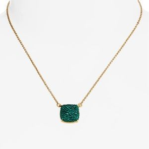 New KATE SPADE Small Square Pave Pendant Necklace